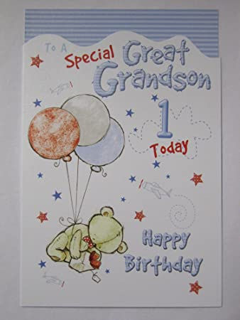 Lovely Colourful To A Special Great Grandson 1 Today 1st Birthday