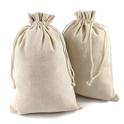 88ca8e46f50e YUXIER 8 Cotton Drawstring Bags Muslin Bags7.7x11.2 Cotton Bags Cotton Bags  Bulk