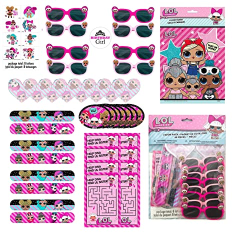 f14131f2dde LOL Surprise Dolls Birthday Party Favor Set for 16 Guests - Includes Goody  Bags