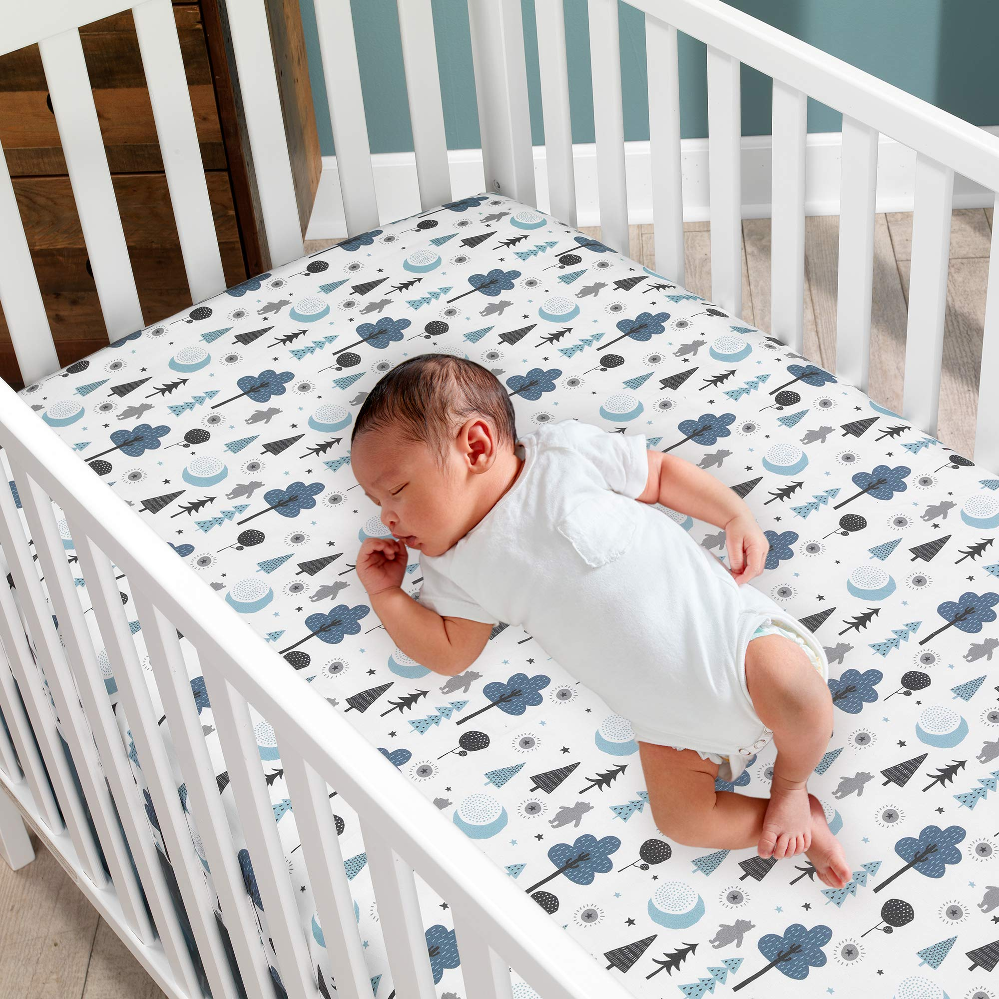 Lambs & Ivy Forever Pooh 3Piece Baby Crib Bedding Set, Blue by Lambs & Ivy (Image #6)
