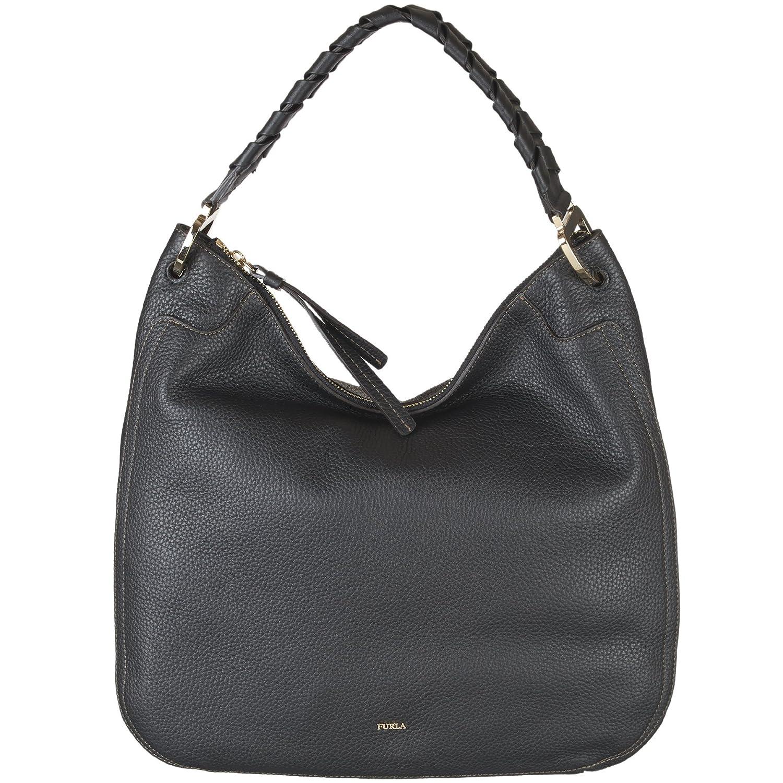 7c49d043d07 Amazon.com  Furla Women s Rialto Large Hobo Onyx One Size  Shoes