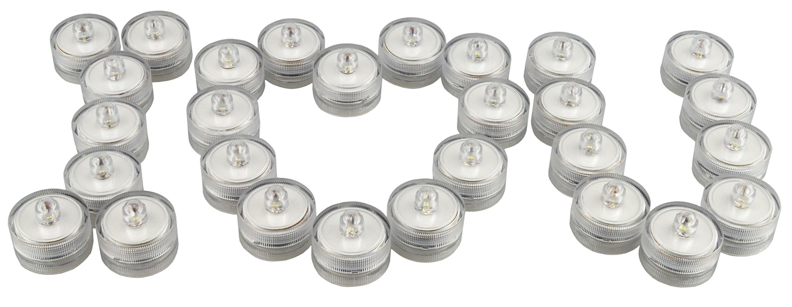Samyo Set of 36 Waterproof Wedding Submersible Battery LED Tea Lights Underwater Sub Lights- Wedding Centerpieces Party Decorate (White) by Samyo (Image #8)