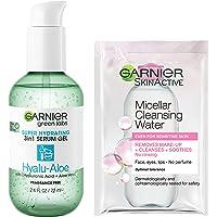 Garnier Green Labs Hyalu-Aloe Super Hydrating Serum Gel with Hyaluronic Acid and Aloe Vera, Fragrance Free, and Micellar…