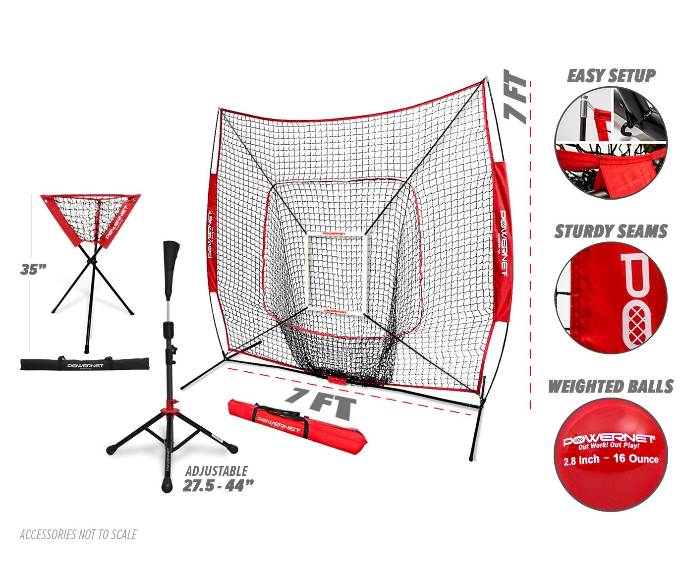 2981bfe28 ... at The Plate Weighted Training Ball Bundle Baseball Softball Pitching  Batting Coaching Pack Work on Pitch Accuracy PowerNet 5x5 Practice Net  Strike Zone ...
