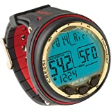 CRESSI SUB GIOTTO MIXED GAS SCUBA DIVING COMPUTER AIR, NITROX AND GAUGE MODES (Black/Red)