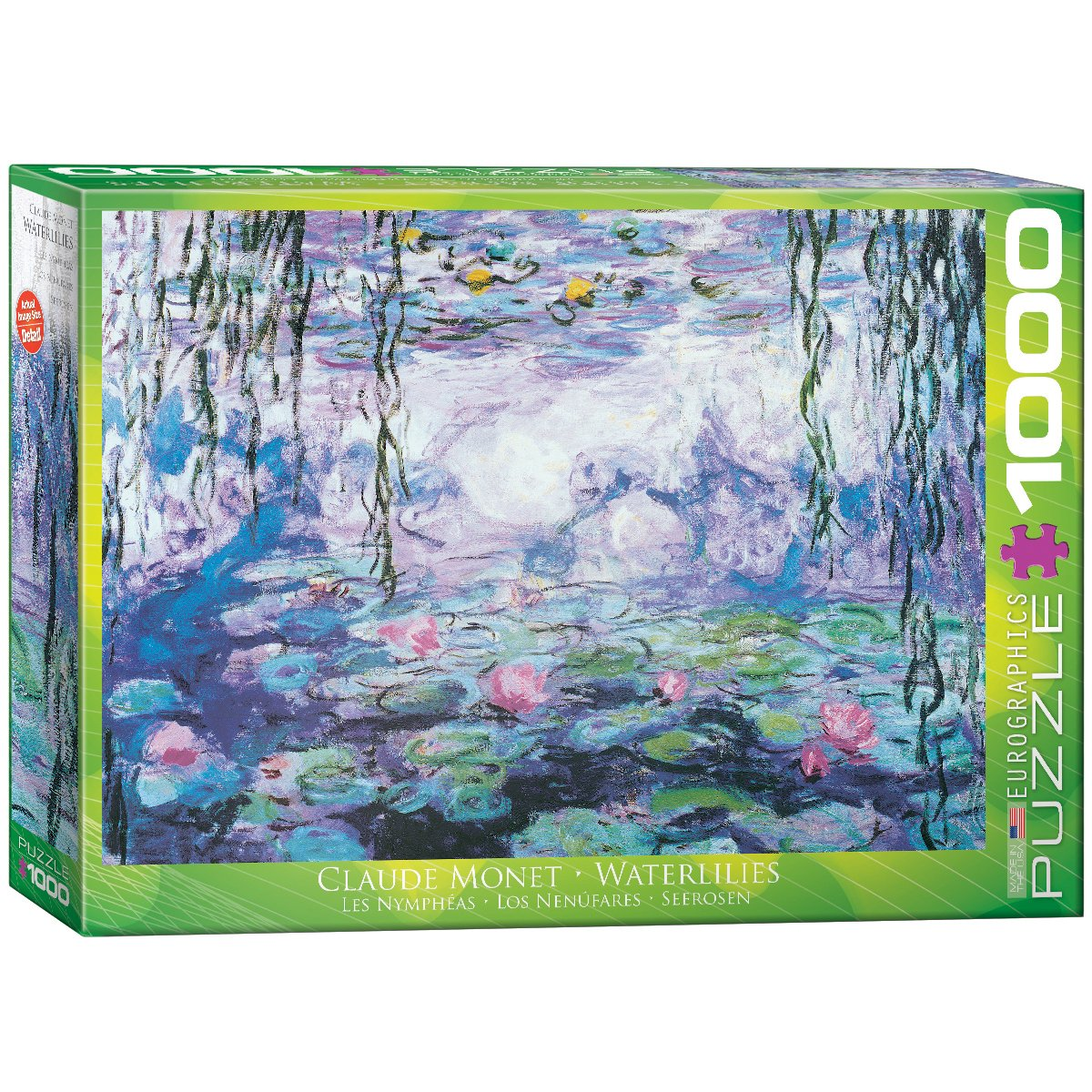 Eurographics Waterlilies by Claude Monet Puzzle (1000 Pieces) 6000-4366