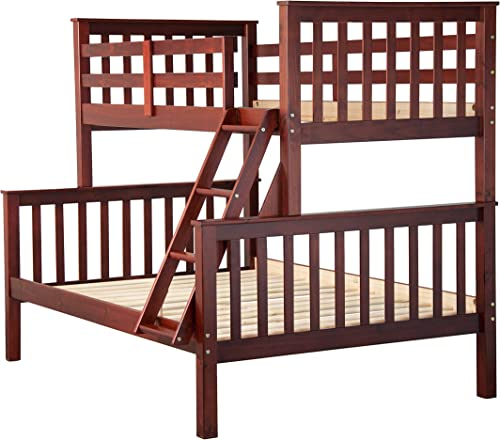 Palace Imports 100 Solid Wood Mission Twin Over Full Bunk Bed