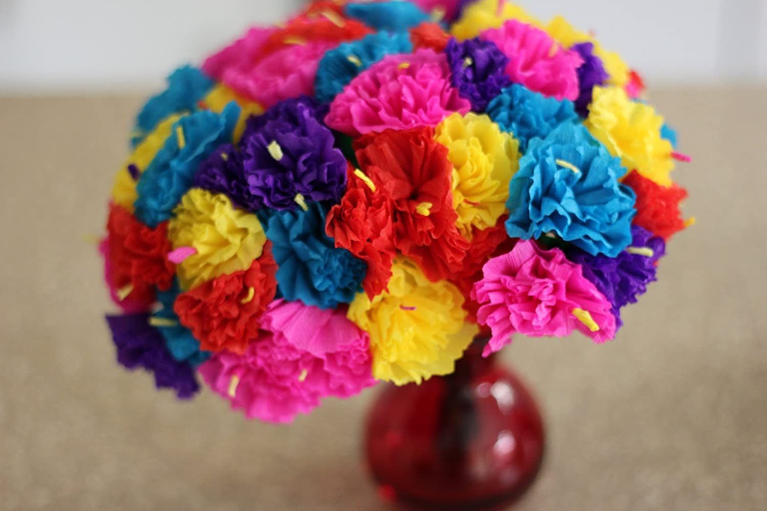 Amazon Bouquet Of Mexican Paper Flowers 12 Stems With 5 Flowers