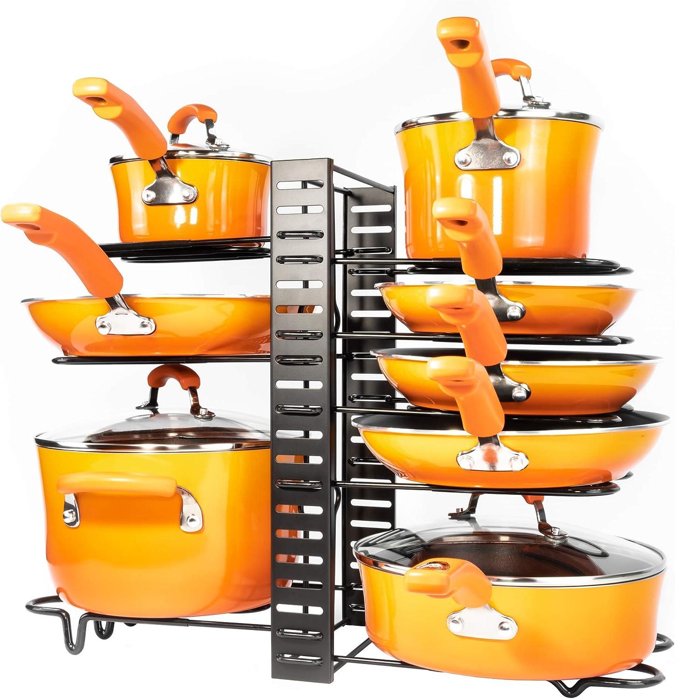 Kitchen Cabinet Organization and Storage Pot Rac Pots and Pans Organizer