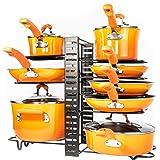 Organizador de ollas y sartenes – Organización y almacenamiento de gabinete de cocina – Organizador de ollas – 3 métodos de b