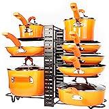 Pots and Pans Organizer – Kitchen Cabinet Organization and Storage – Pot Rack Organizers – 3 DIY Methods – Adjustable Pot Lid