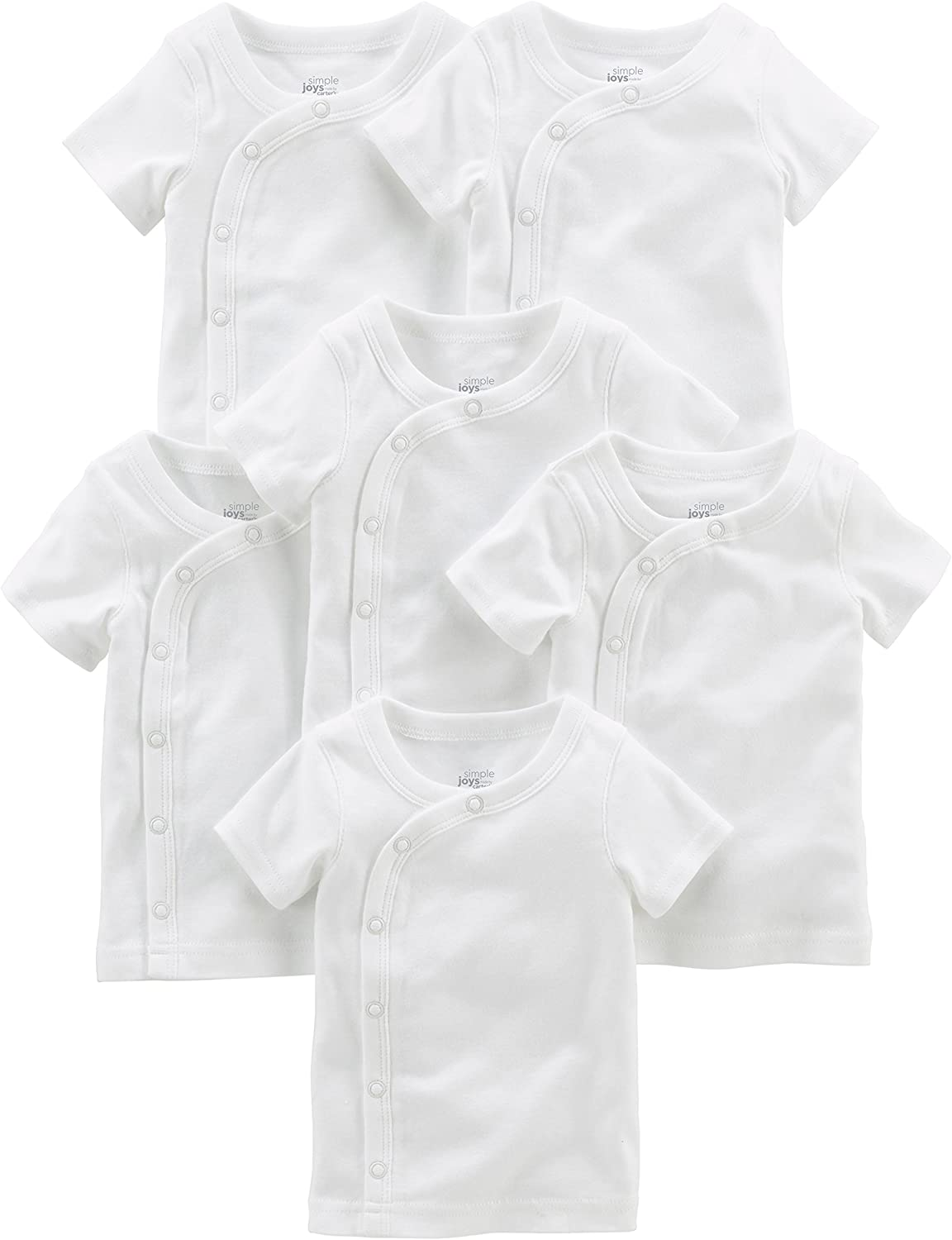 Simple Joys by Carters Baby Boys 6-Pack Side-snap Short-Sleeve Shirt