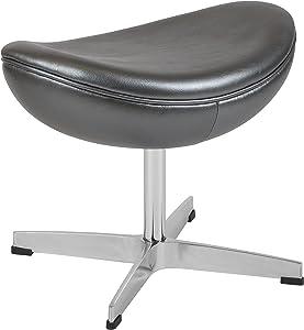 Flash Furniture Gray LeatherSoft Ottoman