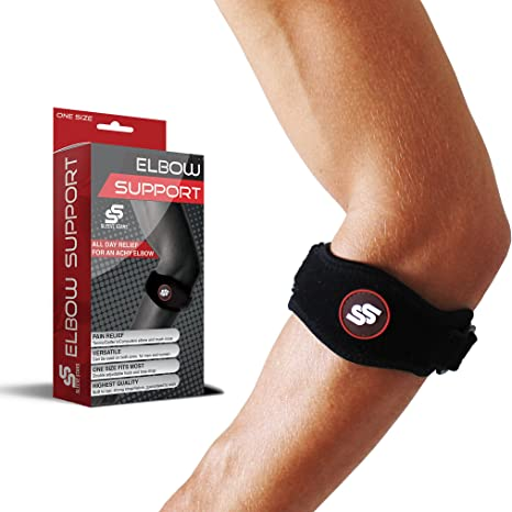 Sleeve Stars Tendonitis Tennis Elbow Brace With Compression Pad For Men Women For Support Pain Relief Against Tendonitis Amazon Co Uk Sports Outdoors