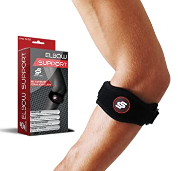 # 1 mejor tendinitis tenis y codo con almohadilla de compresión para hombres y mujeres – para gran apoyo & Alivio del Dolor contra Epicondilitis – ...