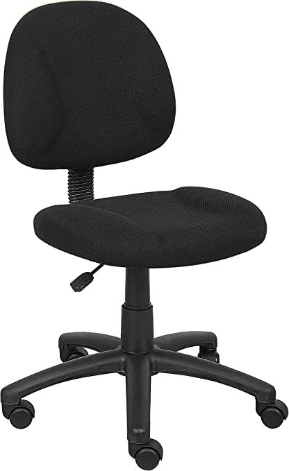 Boss Office Products Deluxe Posture Chair - Best For Height Adjustment