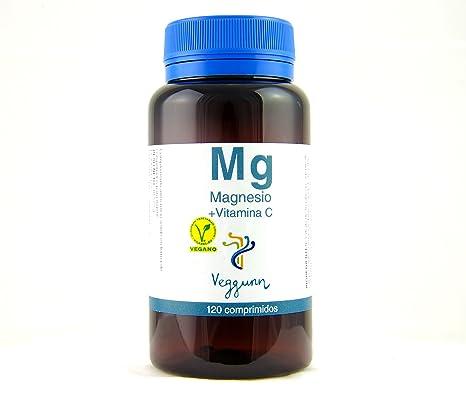 Veggunn Magnesio y Vitamina C, Certificado Vegano - 120 Cápsulas
