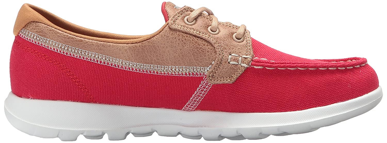 Skechers Women's Go Walk Lite-15430 Boat Shoe B072NCBNBZ 8.5 B(M) US|Red