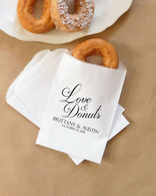 Amazon.com: Wedding Donuts Bags, Fall Wedding Doughnuts, Autumn ...