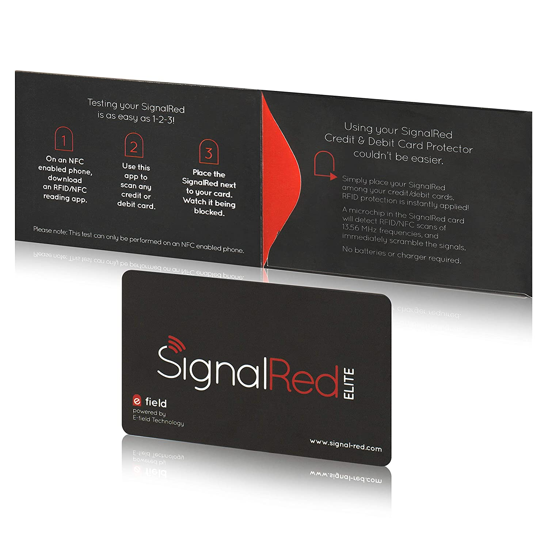 Protector de tarjetas de crédito – 1 sola tarjeta bloqueadora de RFID bloquea todas las señales RFID/NFC de tarjetas de crédito y pasaportes; cabe en ...