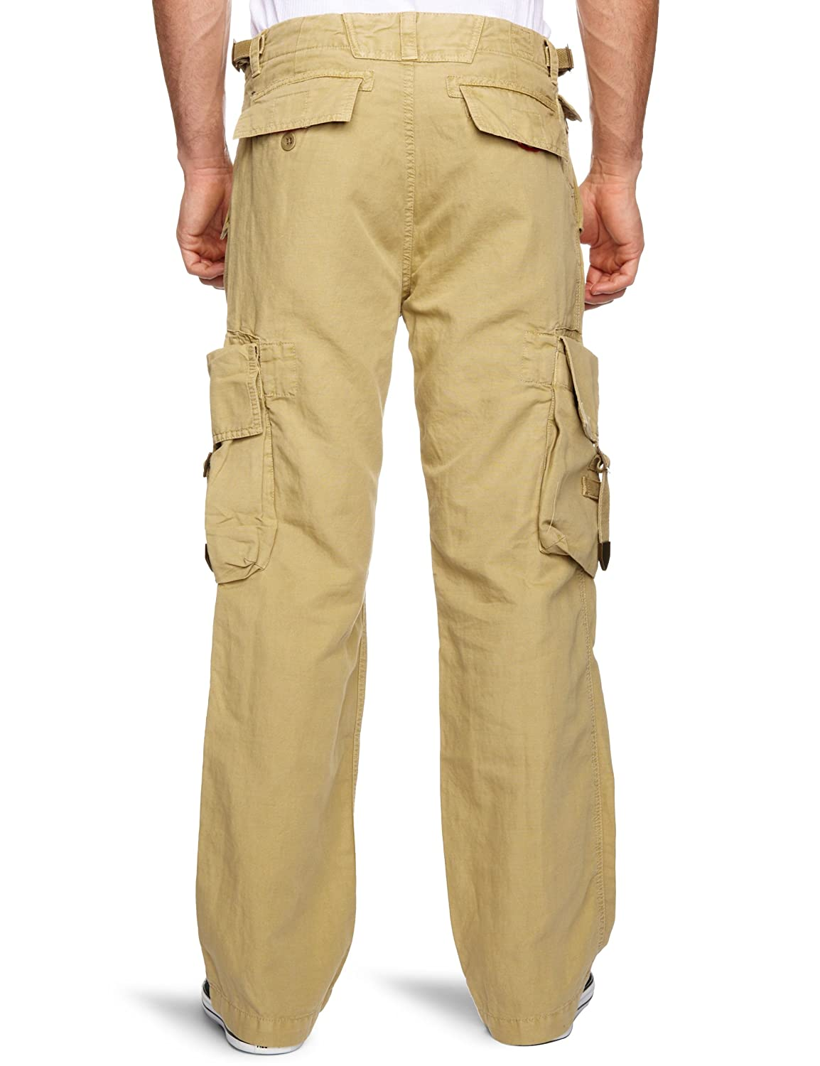 6243a6ffd91 Timberland Men's Cotton/Linen Cargo Pant Straight Brown W32 x L32:  Amazon.co.uk: Clothing