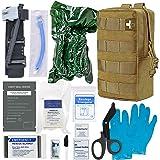 [2021 Upgrade] IFAK Trauma Kit,Emergency IFAK First Aid Kit with CAT Tourniquet,Chest Seals, Israeli Bandage for Emergency Tr