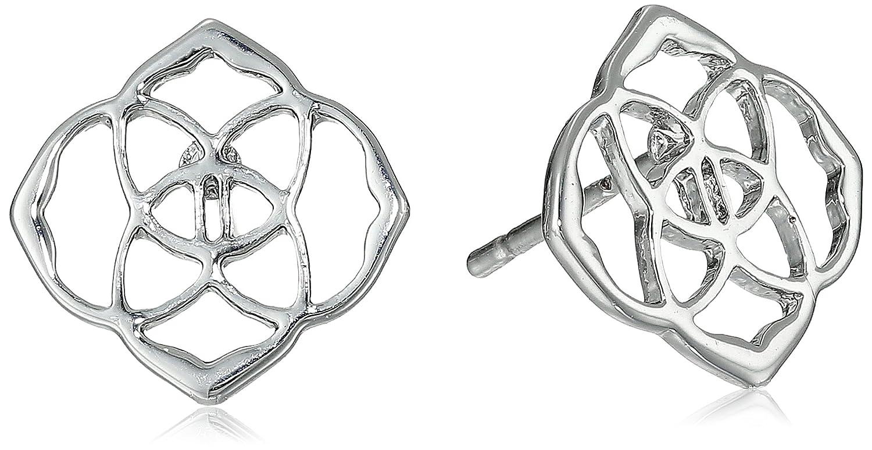 a38d1bf78 Amazon.com: Kendra Scott Dira Rhodium Plated Stud Earrings: Jewelry