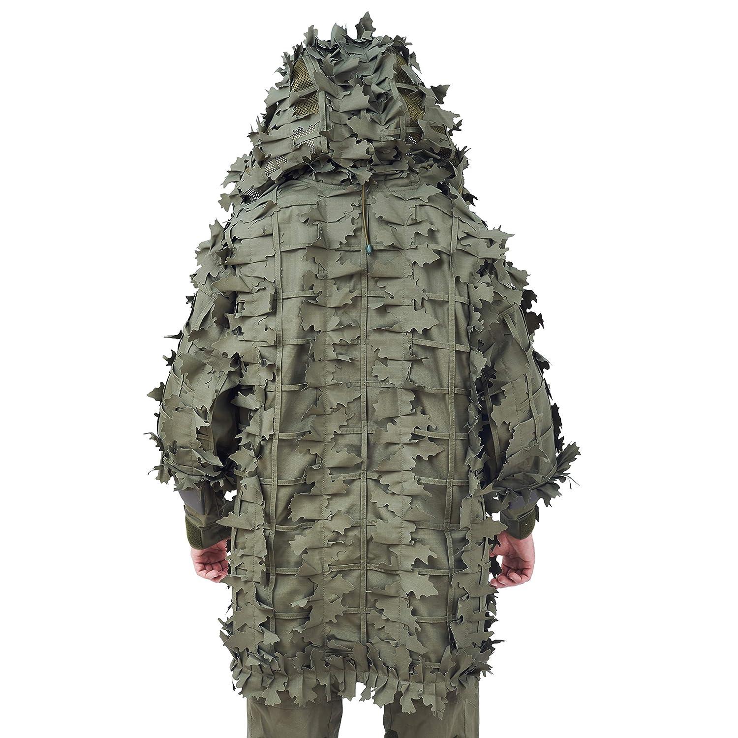 Giena Tactics Ghillie Suit Alligator 3D Russian Sniper Coats//Viper Hoods