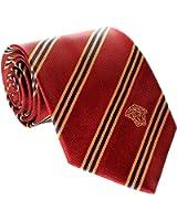 Versace Men's Striped Woven Silk Necktie Burgundy
