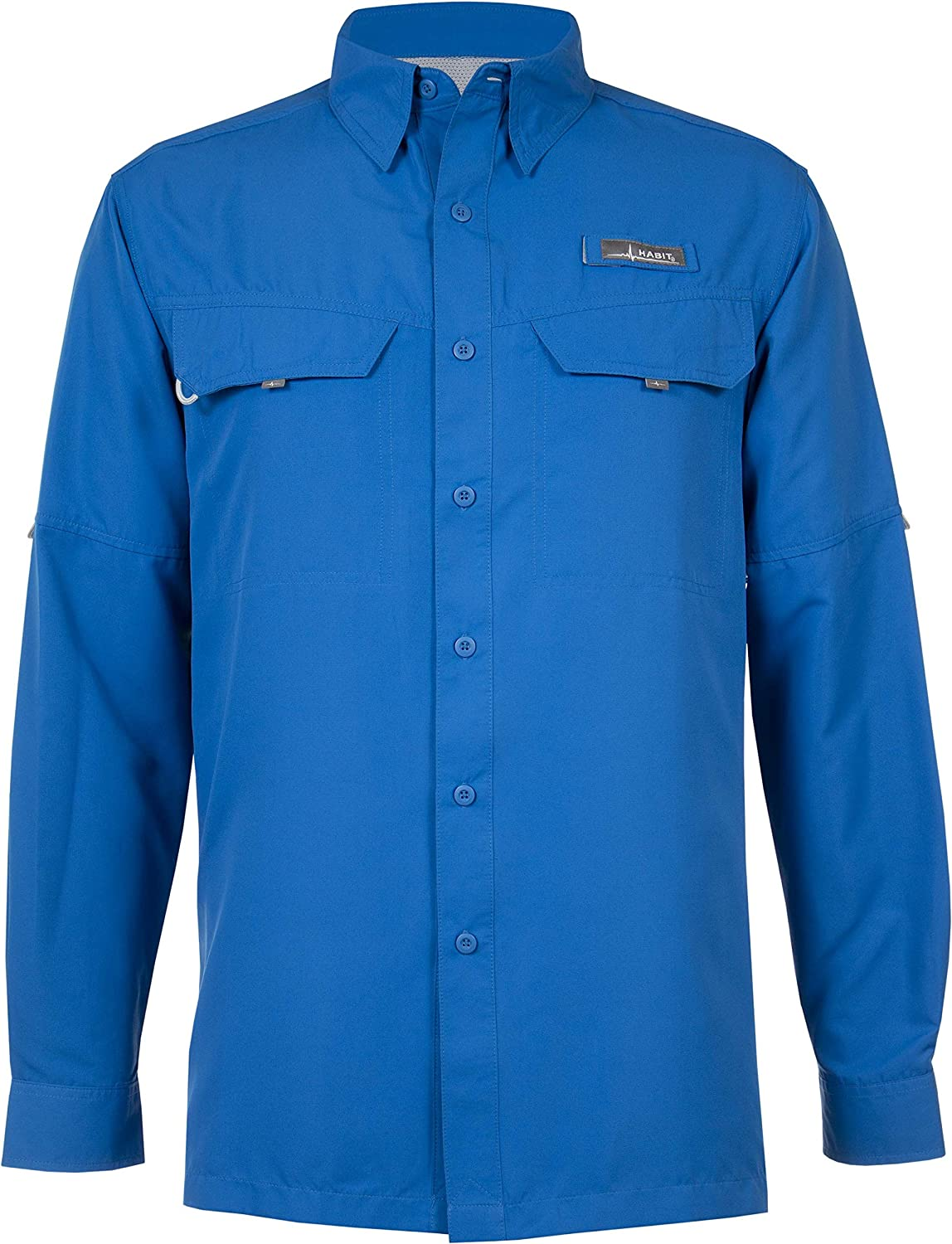 HABIT Mens Ts1156 Long Sleeve River Guide Fishing Shirt