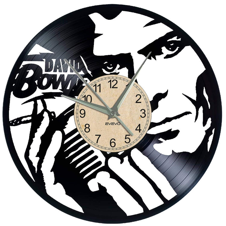 EVEVO Dawid Bowie - Reloj de Pared (Vinilo), diseño con ...