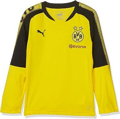 PUMA BVB LS Training Jersey with Sponsor Logo Camiseta para ni/ños