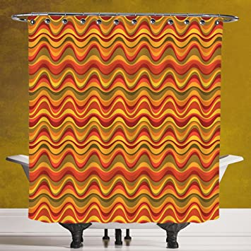 Amazon.com: Funky Shower Curtain 3.0 [Geometric,Desert Dune Pattern ...