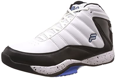 4250859f597 Fila Men's Sweeper 2 White, Black and Prince Blue Basketball Shoes - 6 UK/