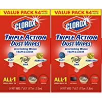 2-Pack Clorox Triple Action Dust Wipes (54 Each)