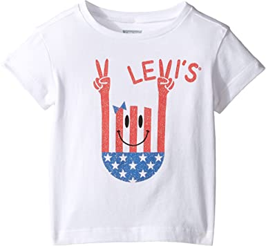 Amazon.com  Levi s Kids Womens Short Sleeve Hi-Low Tee (Toddler)  Clothing 5b4a8d8b9f