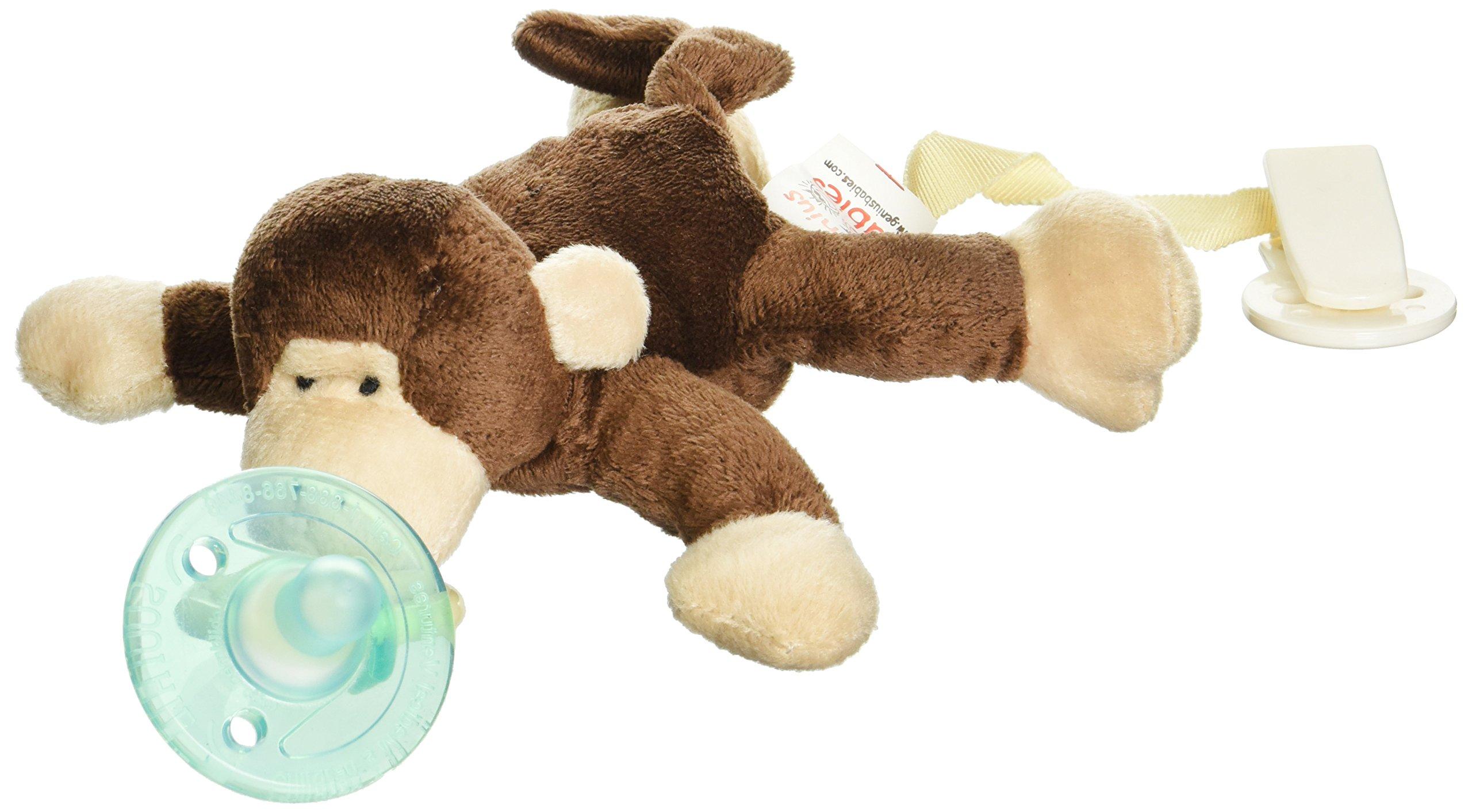 paci buddy giraffe plush pacifier holder clip baby