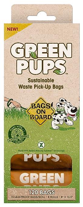 Bags on Board Bolsas en Junta Verde Pups biodegradables Bolsas de ...