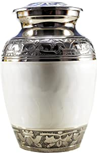 eSplanade Brass Cremation urn Memorial Container Jar Pot | Metal Urns | Burial Urns | Brass Urns.