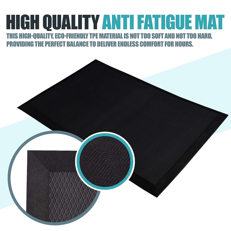 Homeries anti fatigue mat 20 x 32 x 0 75 ergonomic design non slip