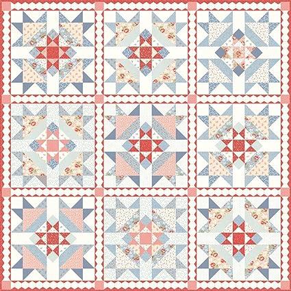 Amazon Com 3 Sisters Victoria Quilt Kit Moda Fabrics Kit44160