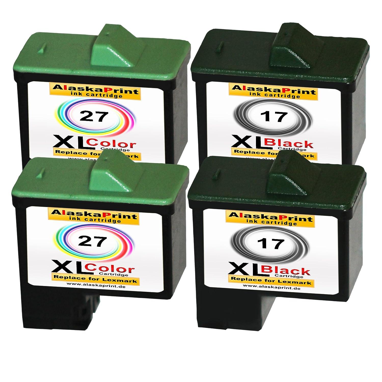 4 x Cartuchos para impresora Lexmark 2 x 17 XL + 2 x 27 XL de ...