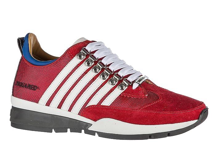 Dsquared2 Zapatos Zapatillas de Deporte Hombres 251 Rojo EU 45 W17SN1011295M068: Amazon.es: Zapatos y complementos