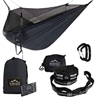 Everest Double Camping Hammock with Mosquito Net | Bug-Free Camping, Backpacking & Survival Outdoor Hammock Tent | Reversible, Integrated, Lightweight, Ripstop Nylon