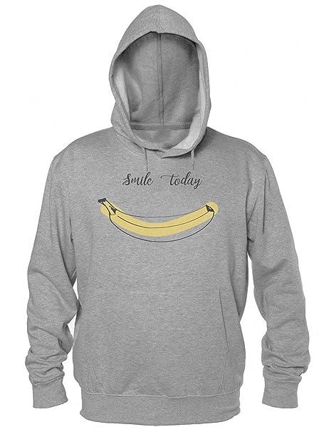 Finest Prints Smile Today Banana Smile Modern Artwork Sudadera con Capucha para Hombre: Amazon.es: Ropa y accesorios