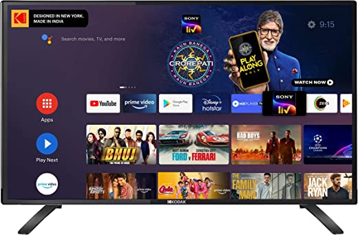 32 Inches Kodak HD Certified Android LED TV 32HDX7XPRO (2020 Model)