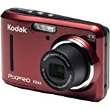 """Kodak PIXPRO Friendly Zoom FZ43-RD 16MP Digital Camera with 4X Optical Zoom and 2.7"""" LCD Screen (Red)"""