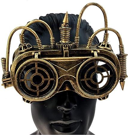 Gunmetal Adult Steampunk Black Goth Goggles