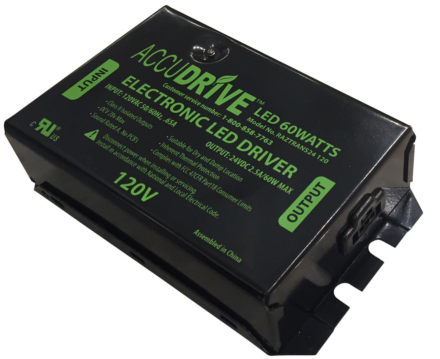 Lithonia Lighting RAZTRANS24 120 M6 Transformer for Rayzer LED Undercabinet, Black by Lithonia Lighting
