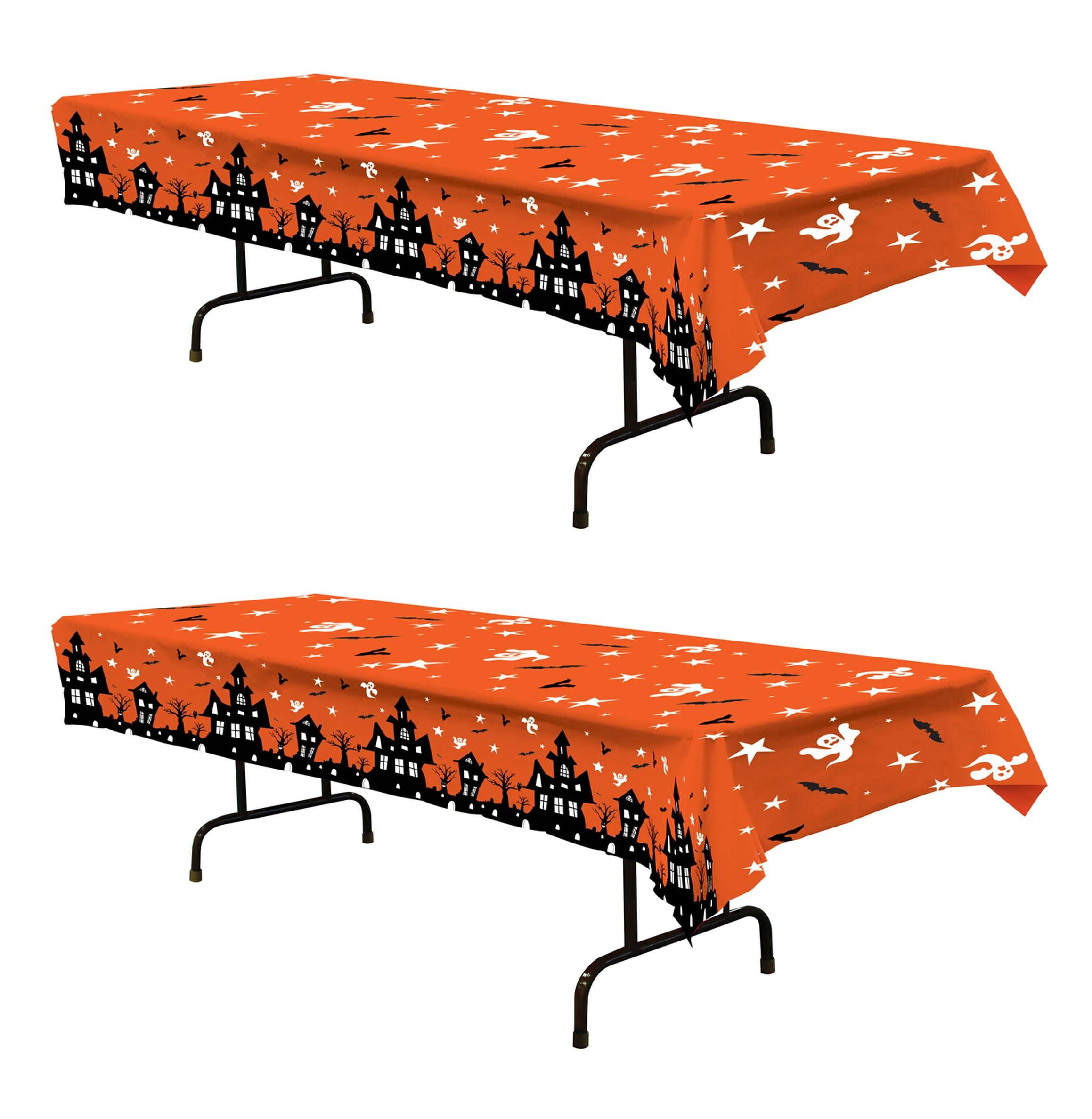 Beistle S00025AZ2 haunted house tablecovers, Orange/Black/White by Beistle
